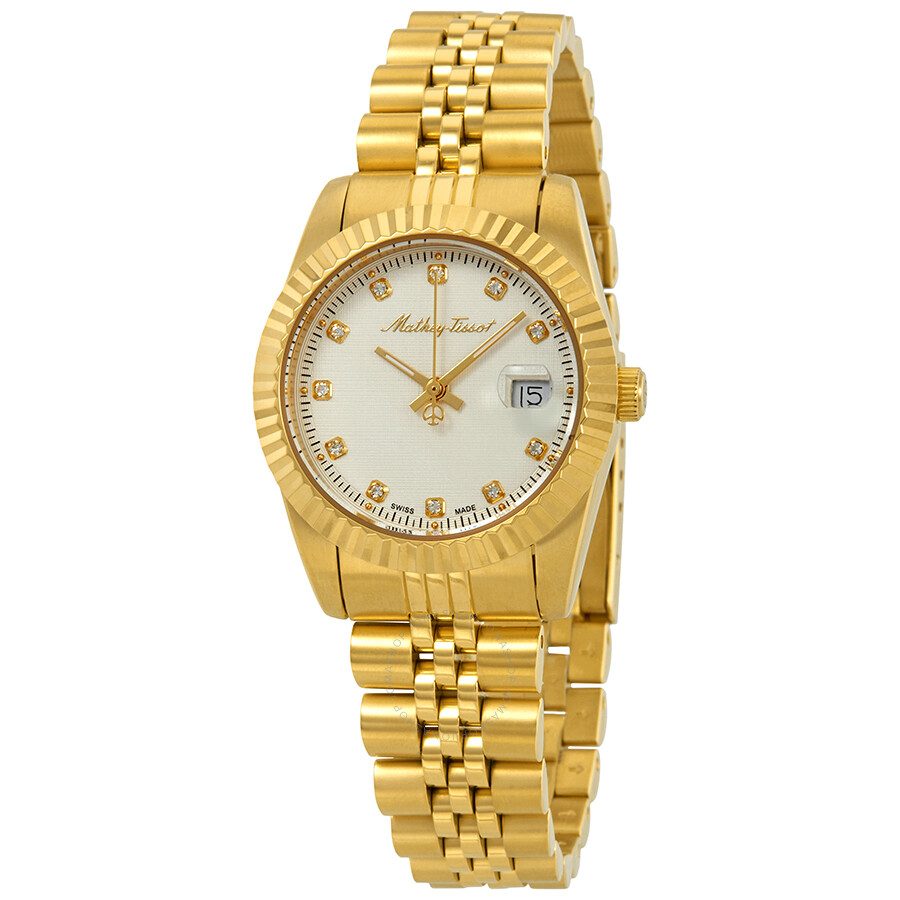 Mathey III Quartz Crystal White Dial Ladies Watch D810PI