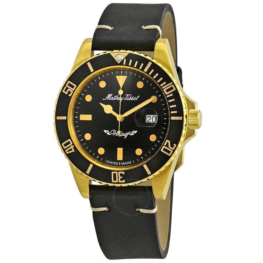 Mathey-Tissot Rolly Vintage Black Dial Men's Watch H901PLN