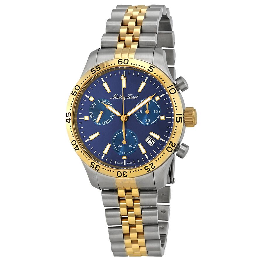 Mathey Tissot Type 22 Chronograph Blue Dial Men S Watch H1822chbu