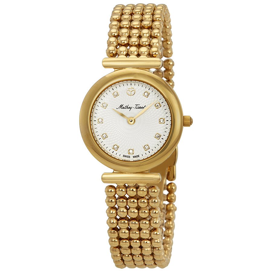 Allure Crystal White Dial Ladies Watch D539PI