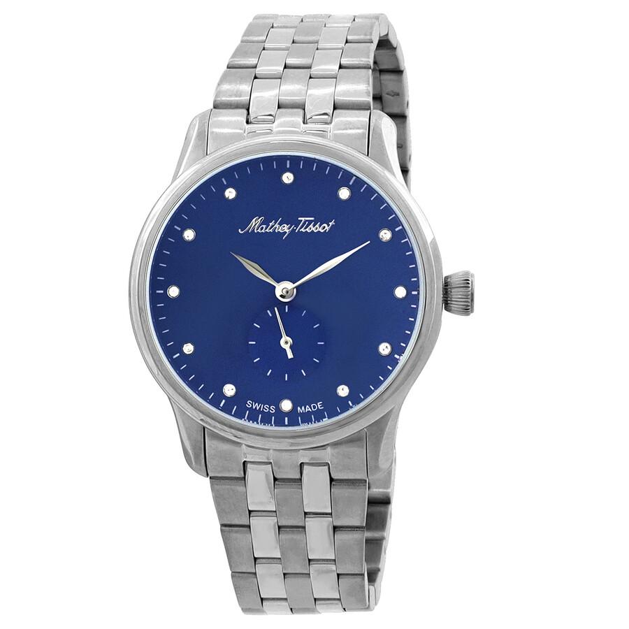 Edmond Metal Crystal Blue Dial Ladies Watch D1886MABU