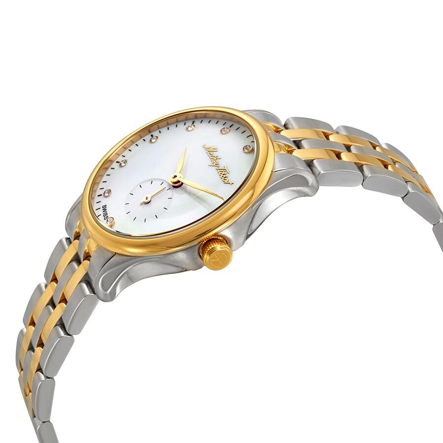 Edmond Metal Crystal White Dial Ladies Watch D1886MBI