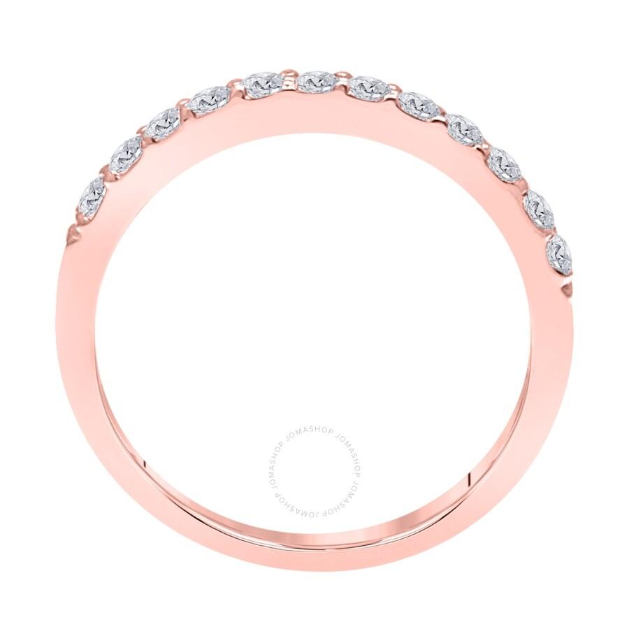 8aa6f3fe8d193 Maulijewels 0.50 Carat Diamond Wedding Band in 10K Rose Gold