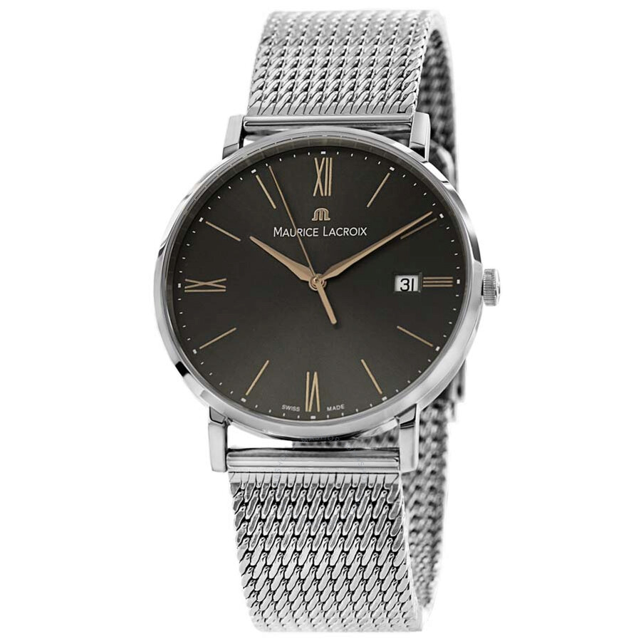 maurice lacroix eliros date anthracite stainless