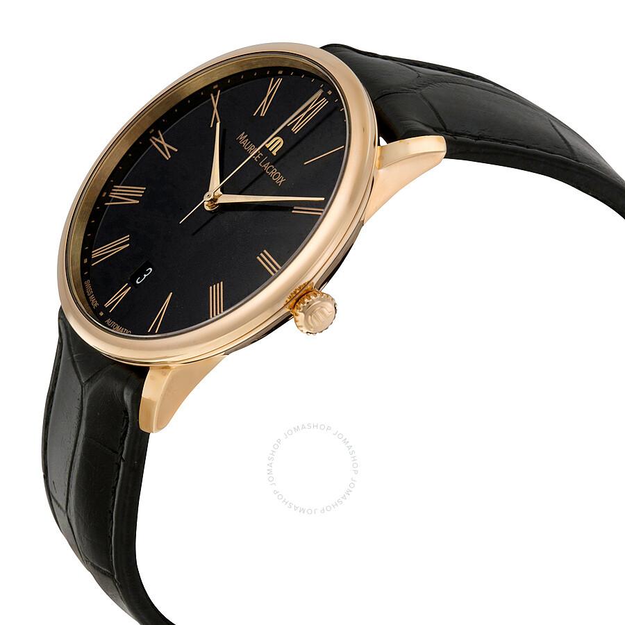 Черные наручные часы Maurice Lacroix Марис Лакруа купить