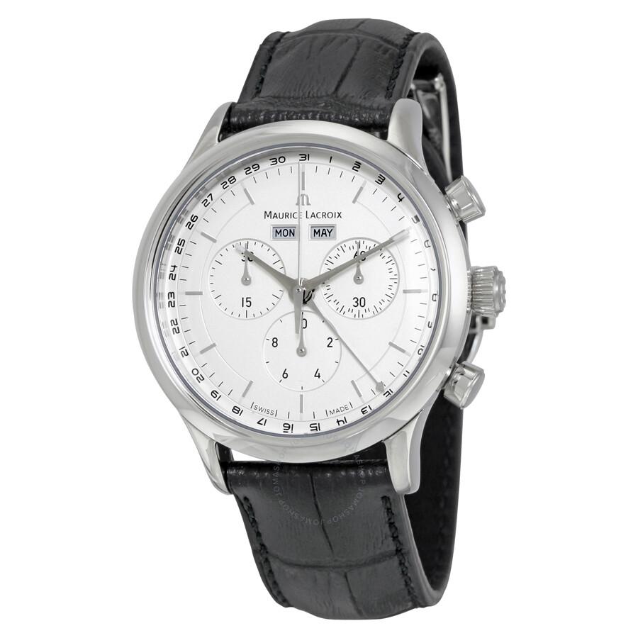 Maurice lacroix les classiques chronograph men 39 s watch lc1008 ss001 130 les classiques for Maurice lacroix watches
