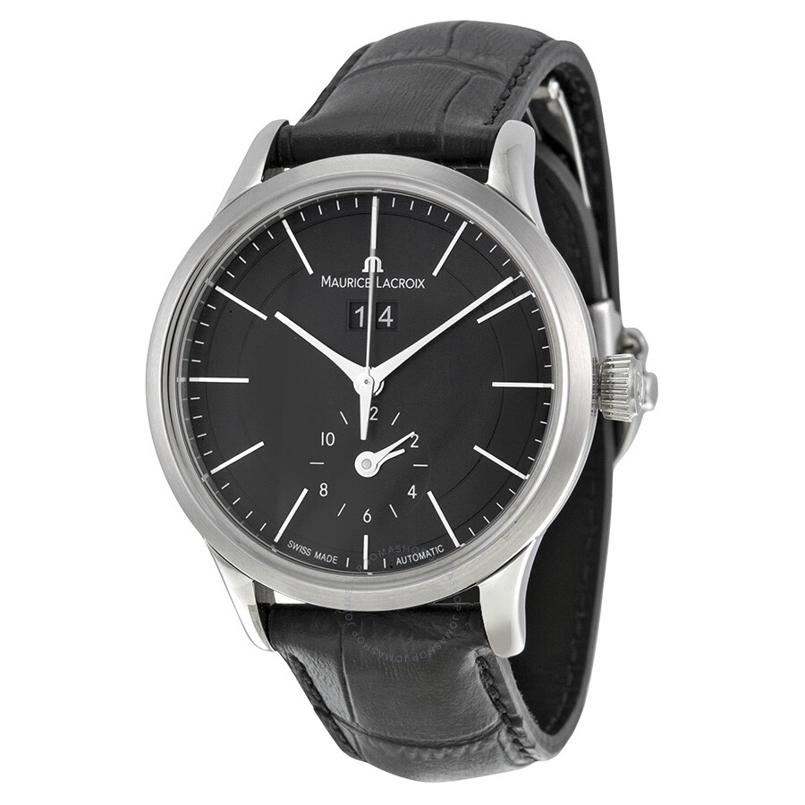 Maurice lacroix les classiques grande date gmt automatic black dial men 39 s watch lc6088 ss001 330 for Maurice lacroix watches
