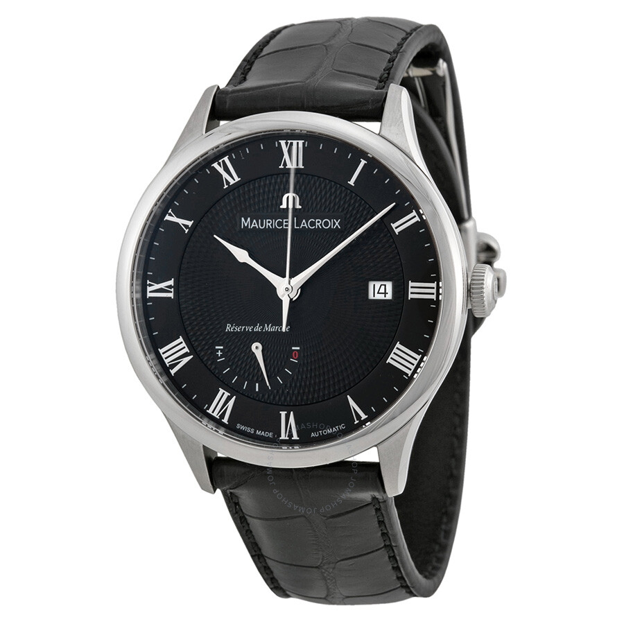 Maurice lacroix masterpiece black dial automatic men 39 s watch mp6807 ss001 310 masterpiece for Maurice lacroix watches