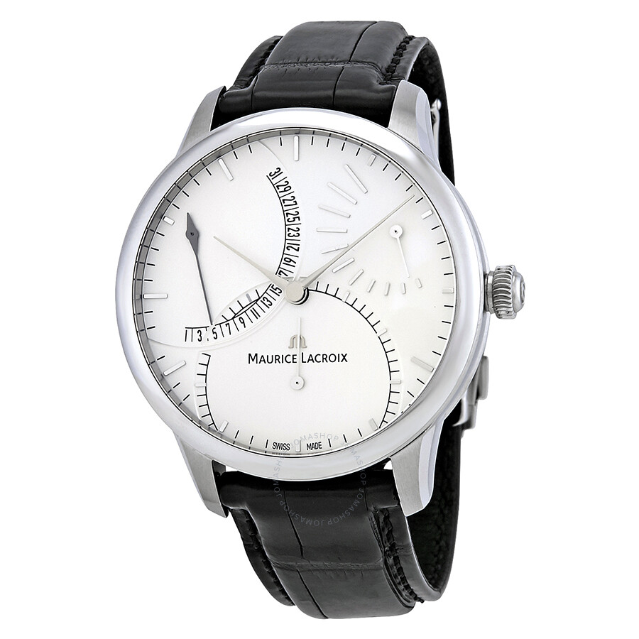 Maurice lacroix masterpiece silver dial automatic men 39 s watch mp6508 ss001 130 masterpiece for Maurice lacroix watches