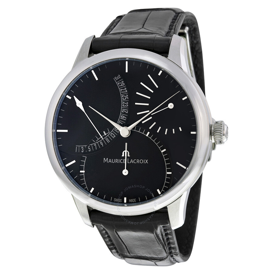 Maurice lacroix masterpiece black dial men 39 s watch mp6508 ss001 330 masterpiece maurice for Maurice lacroix watches