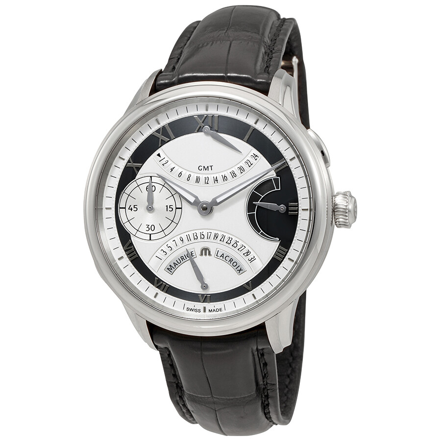 Maurice lacroix masterpiece double retrograde silver dial men 39 s watch mp7218 ss001 110 for Maurice lacroix watches