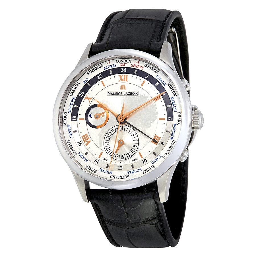 Maurice lacroix masterpiece tradition worldtimer men 39 s watch mp6008 ss001 110 masterpiece for Maurice lacroix watches