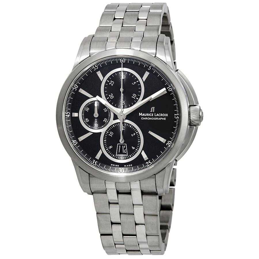 Pontos Pt6188 Maurice Lacroix Ss002 Men's Watch Automatic Chronograph 330 TKcl1uFJ3