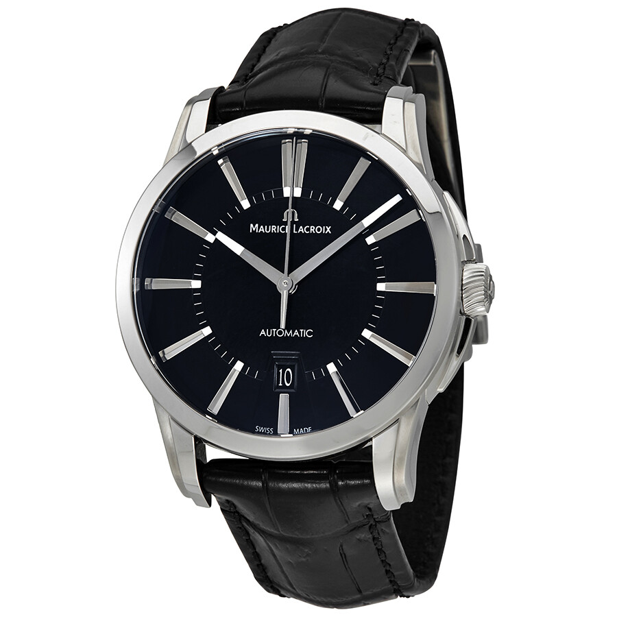 Maurice lacroix pontos date black dial automatic men 39 s watch pt6148 ss001 330 pontos maurice for Maurice lacroix watches