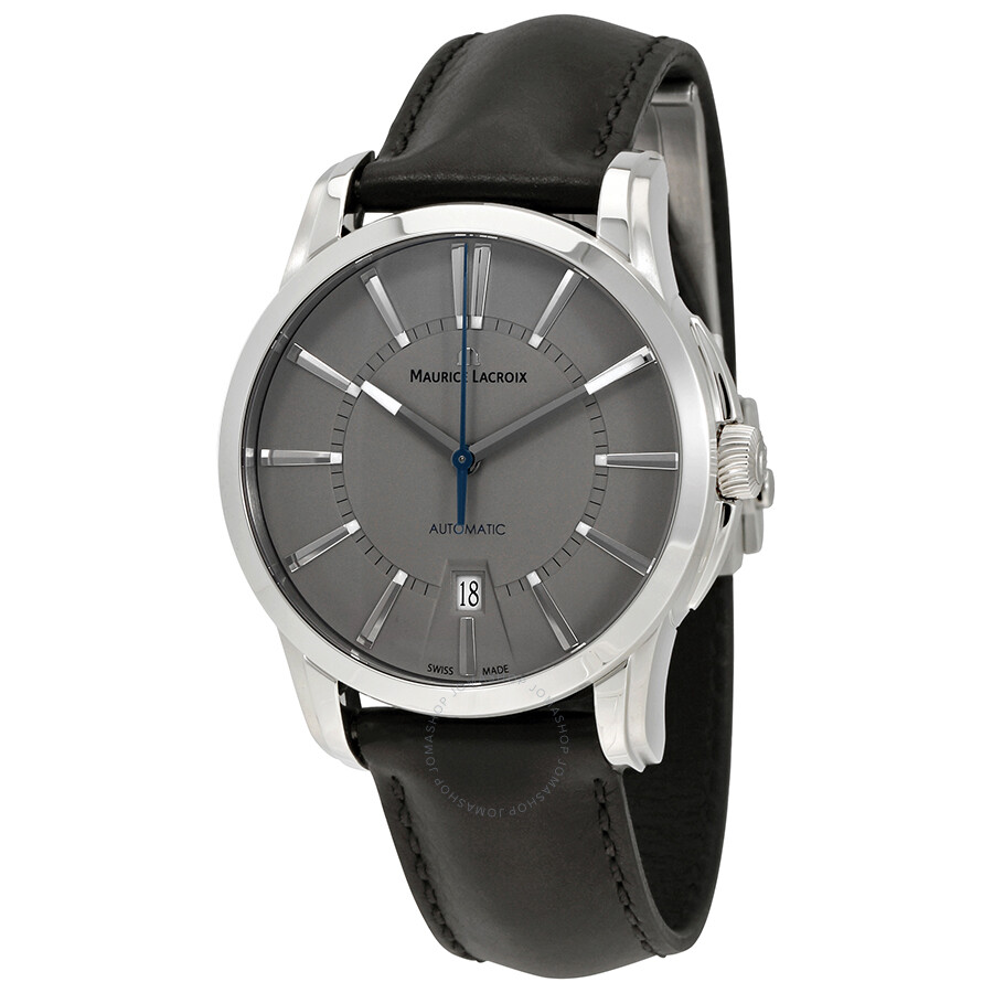 Maurice lacroix pontos date grey dial men 39 s watch pt6148 ss001 230 pontos maurice lacroix for Maurice lacroix watches
