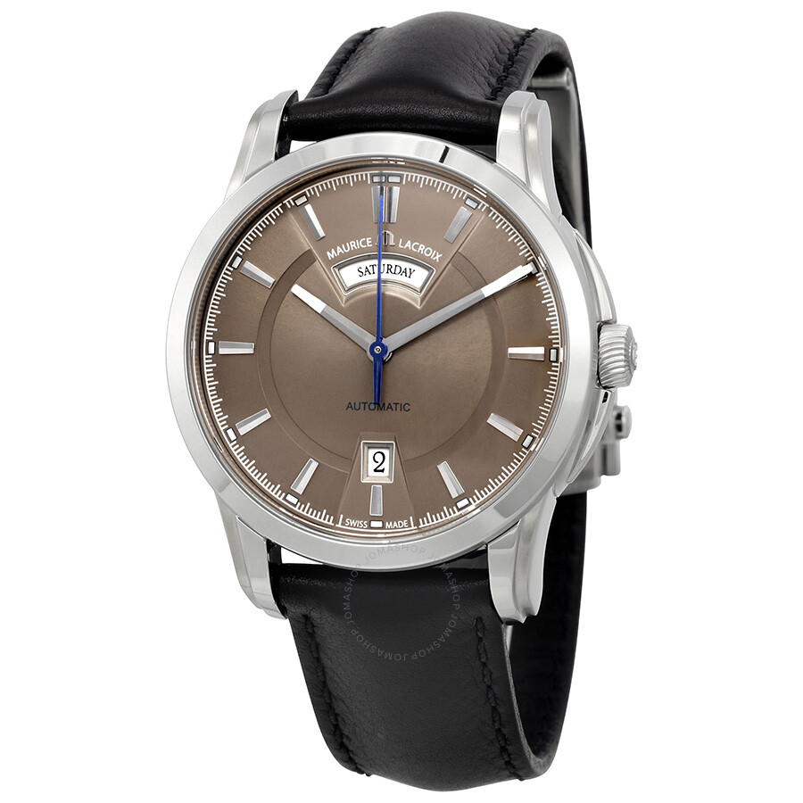 Maurice lacroix pontos day date automatic men 39 s watch pt6158 ss001 73e pontos maurice for Maurice lacroix watches