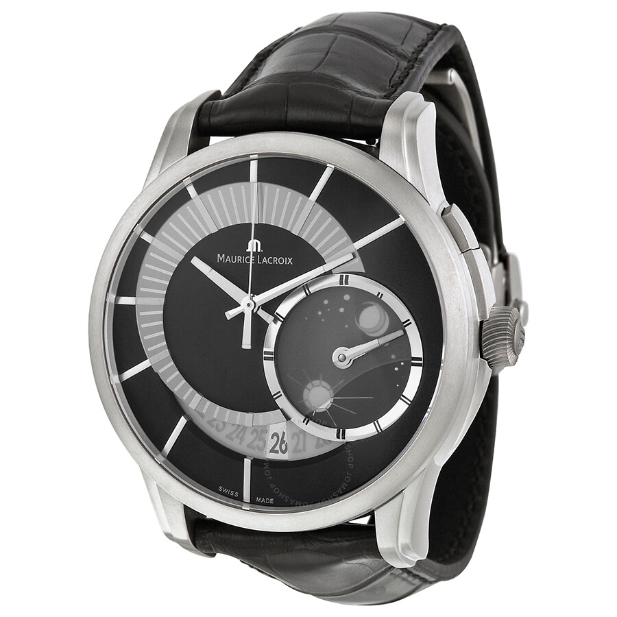 Maurice lacroix pontos decentrique gmt limited edition men 39 s watch pt6108 tt031 391 pontos for Maurice lacroix watches