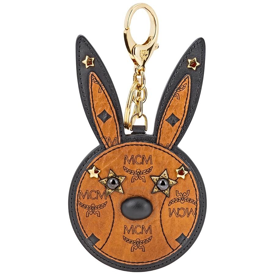 1ee4d2fa3d3 MCM Animal Rabbit Mirror Key Charm- Cognac - MCM - Handbags - Jomashop