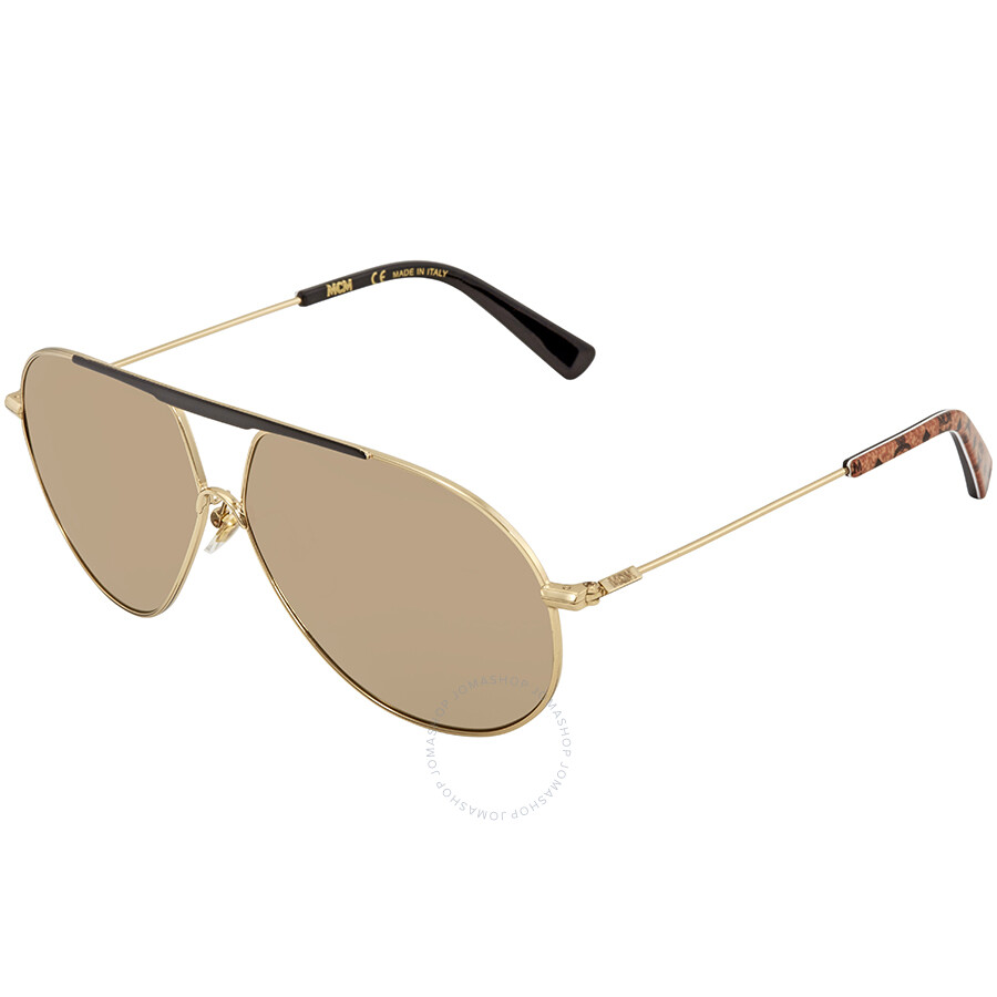 aa172470da MCM Gold Mirror Aviator Men s Sunglasses MCM 114S 717 62 - MCM ...