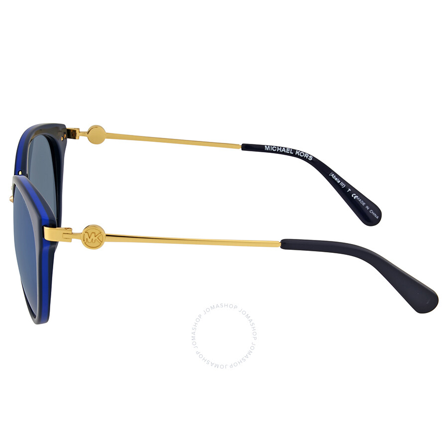 cd7459414ec3 Michael Kors Abela III Blue Mirror Cat Eye Sunglasses - Michael Kors ...