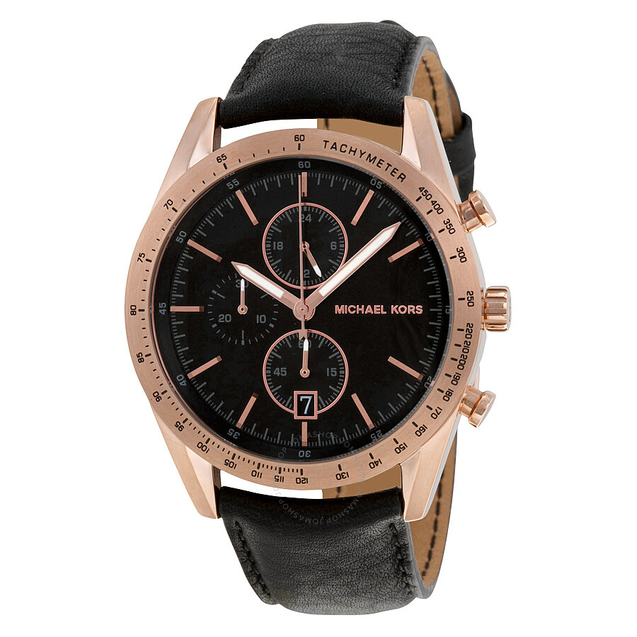 michael kors accelerator black chronograph s