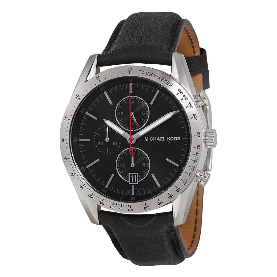 michael kors accelerator chronograph black black
