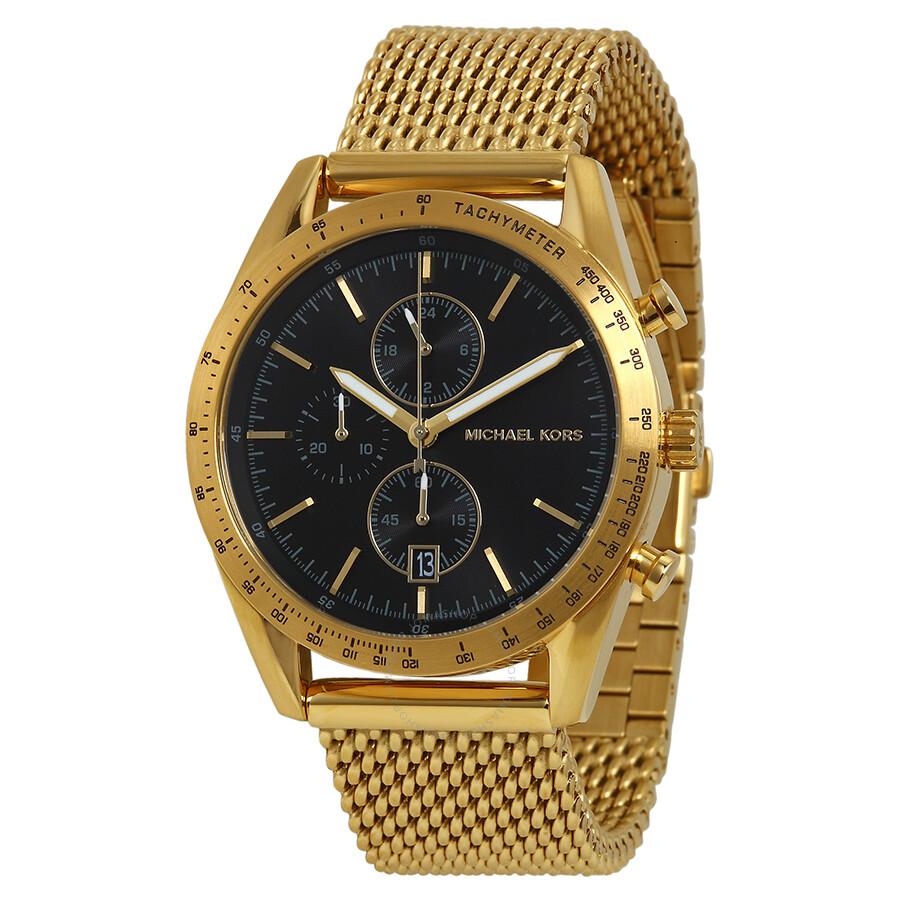 michael kors accelerator chronograph black dial gold tone men s michael kors accelerator chronograph black dial gold tone men s watch mk8388