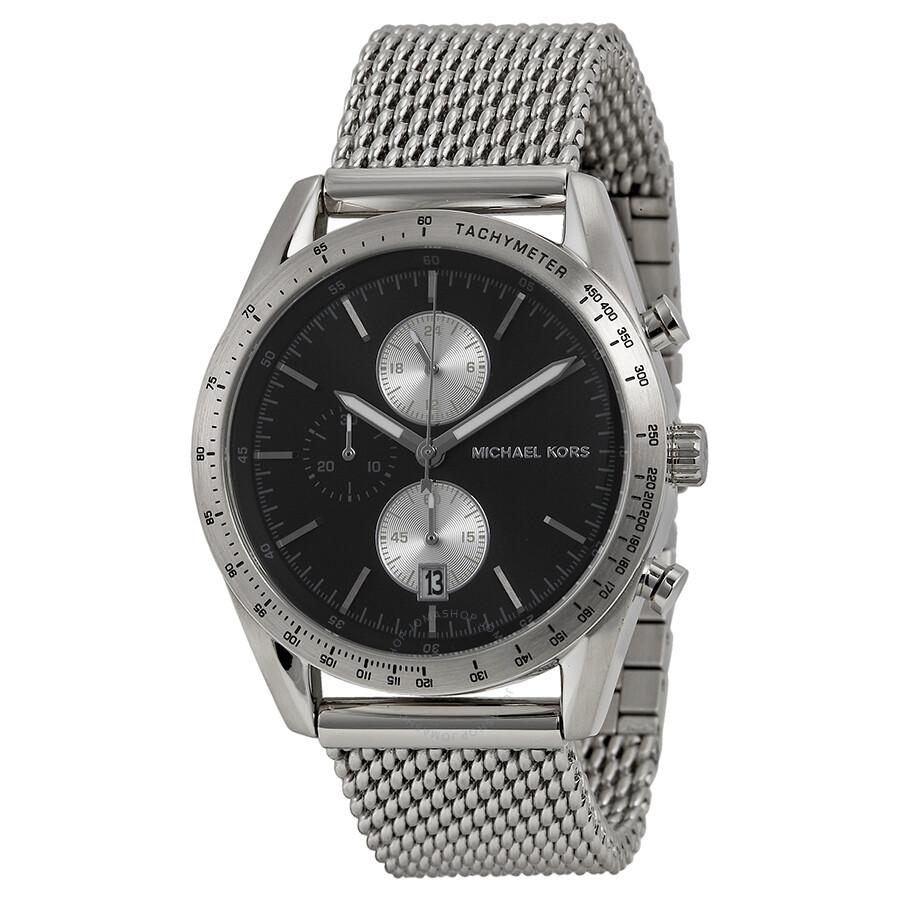 f92757247c0e Michael Kors Accelerator Chronograph Black Dial Men s Watch MK8387 ...