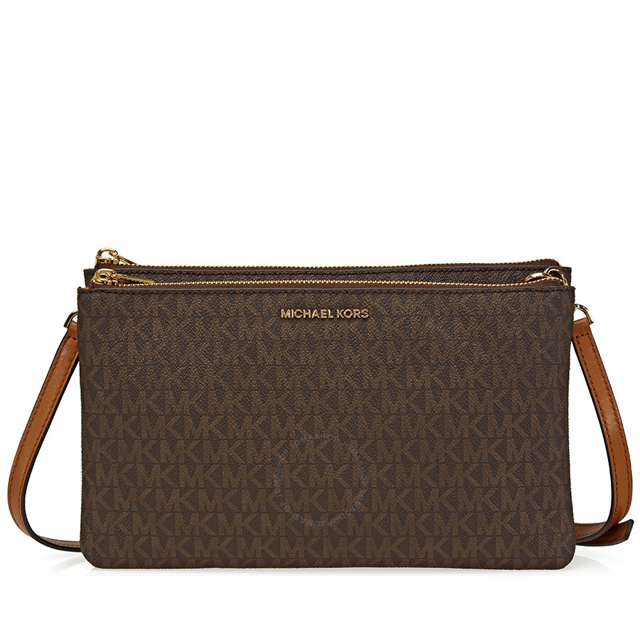 Michael Kors Crossbody Laukut : Michael kors adele double gusset signature crossbody
