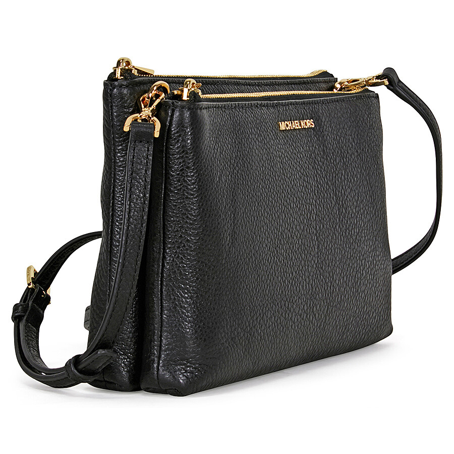 Michael Kors Adele Double Zip Crossbody Black