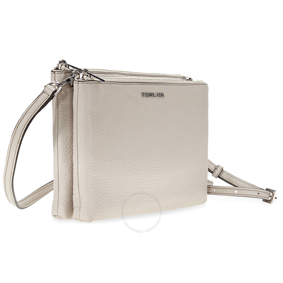 7a543d0b0895d3 Michael Kors Adele Double Zip Crossbody - Cement - Adele - Michael ...