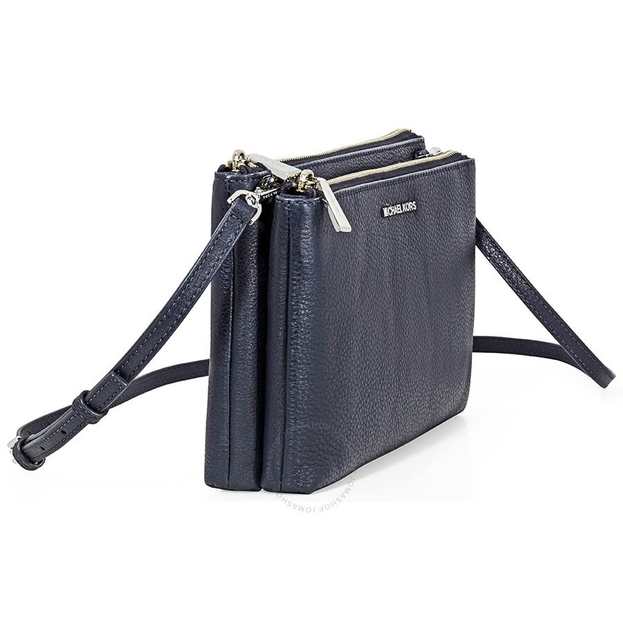 Michael Kors Adele Double Zip Crossbody Bag Admiral