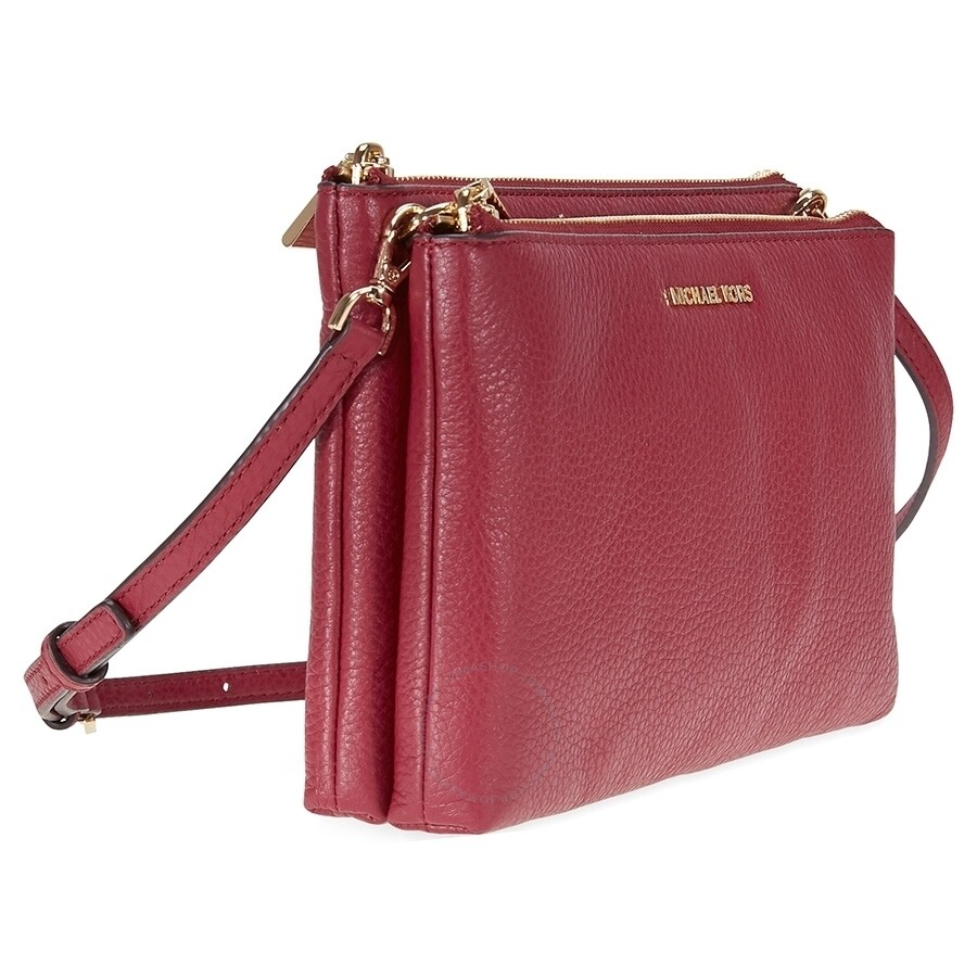 7cff8e81c46a Michael Kors Adele Double Zip Crossbody - Mulberry - Adele - Michael ...