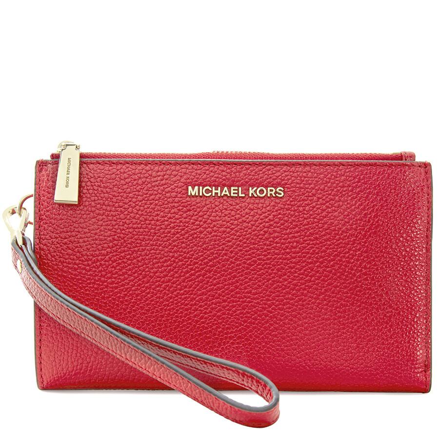 bc43c6d44151 Michael Kors Adele Double Zip Wristlet - Bright Red Item No. 32T7GAFW4L-204