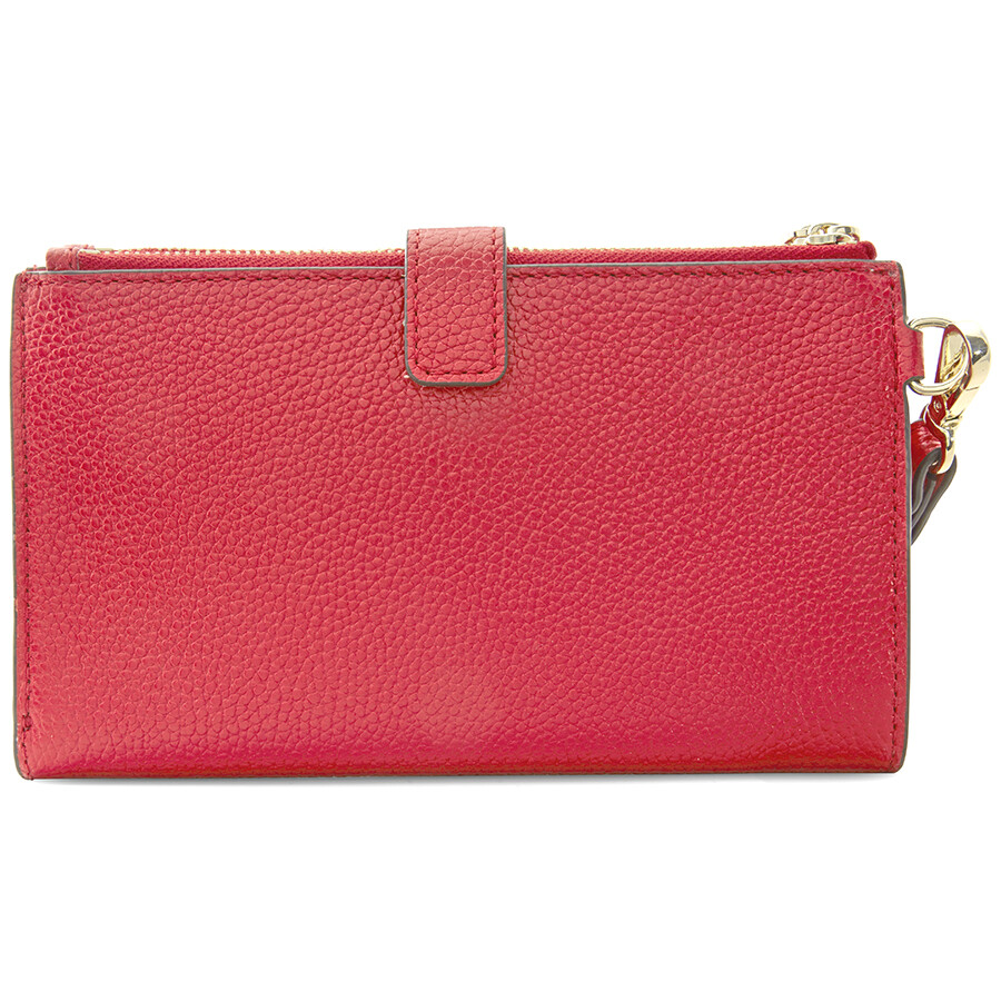1922a481d285 Michael Kors Adele Double Zip Wristlet - Bright Red Item No. 32T7GAFW4L-204