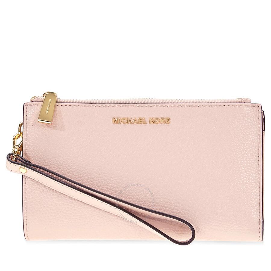 c8325482fc37 Michael Kors Adele Double Zip Wristlet - Soft Pink Item No. 32T7GAFW4L-187