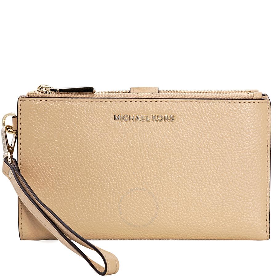 Michael Kors Adele Leather Smartphone Wristlet- Butternut Item No.  32T8TFDW4L-106 1ef2eec86fe2b