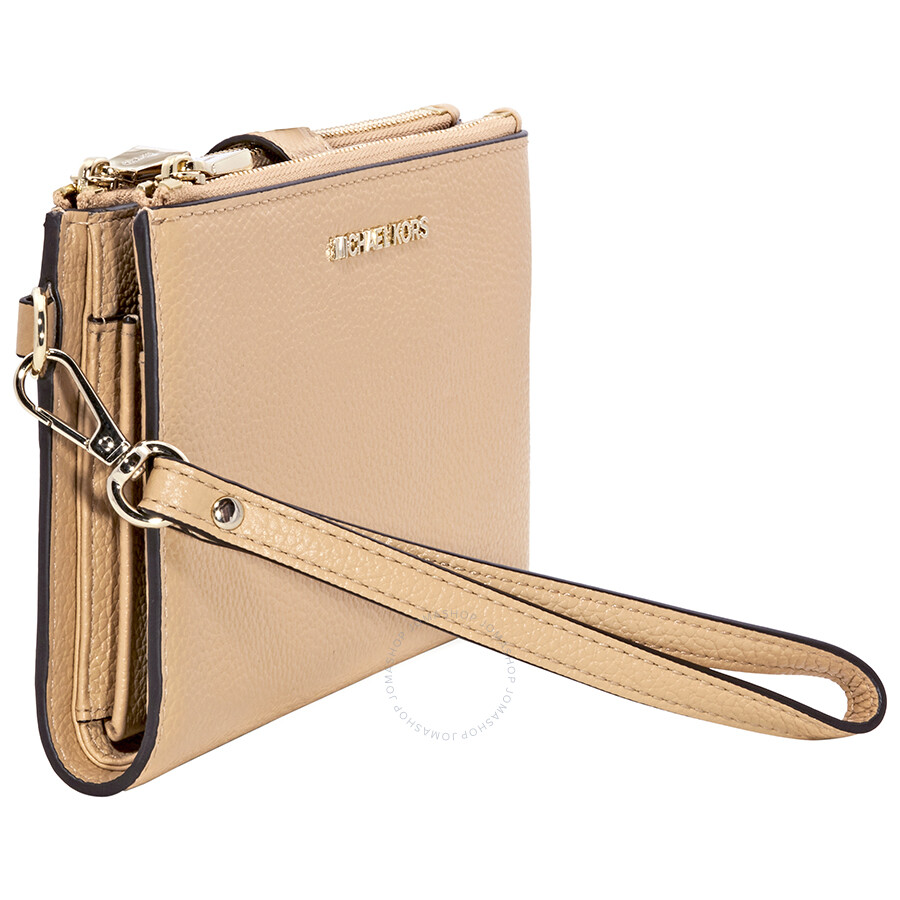 50986dadeacd Michael Kors Adele Leather Smartphone Wristlet- Butternut - Adele ...