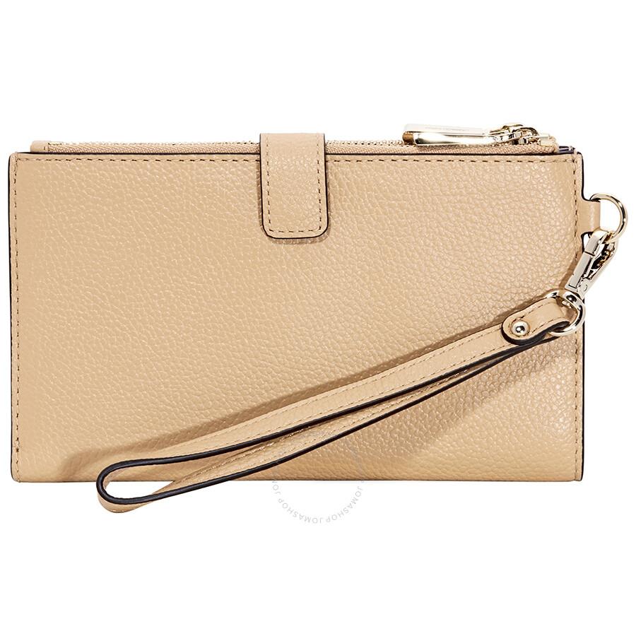 928ce02e22f7 Michael Kors Adele Leather Smartphone Wristlet- Butternut - Adele ...