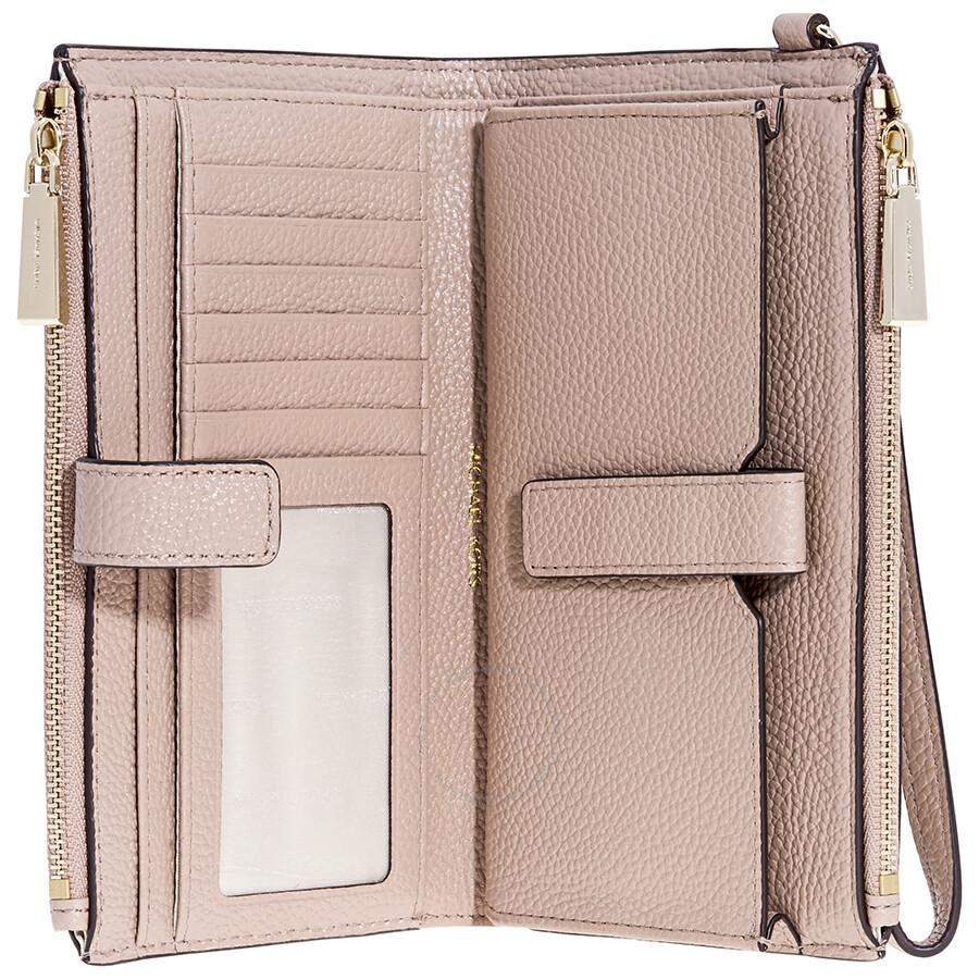 Michael Kors Adele Leather Smartphone Wristlet- Fawn - Adele ... 82ef7c605d1