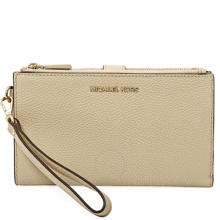Michael Kors Adele Leather Smartphone Wristlet- Oat Item No. 32T8TFDW4L-160 5df61314948