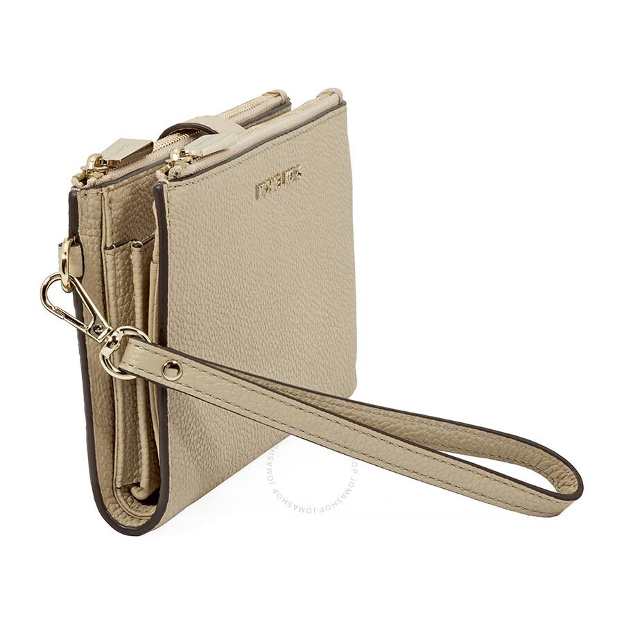 c1a26ba19427 Michael Kors Adele Leather Smartphone Wristlet- Oat - Adele ...