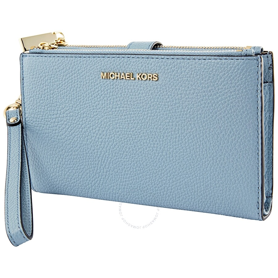 b1e29dbf69ee Michael Kors Adele Leather Smartphone Wristlet- Powder Blue - Adele ...