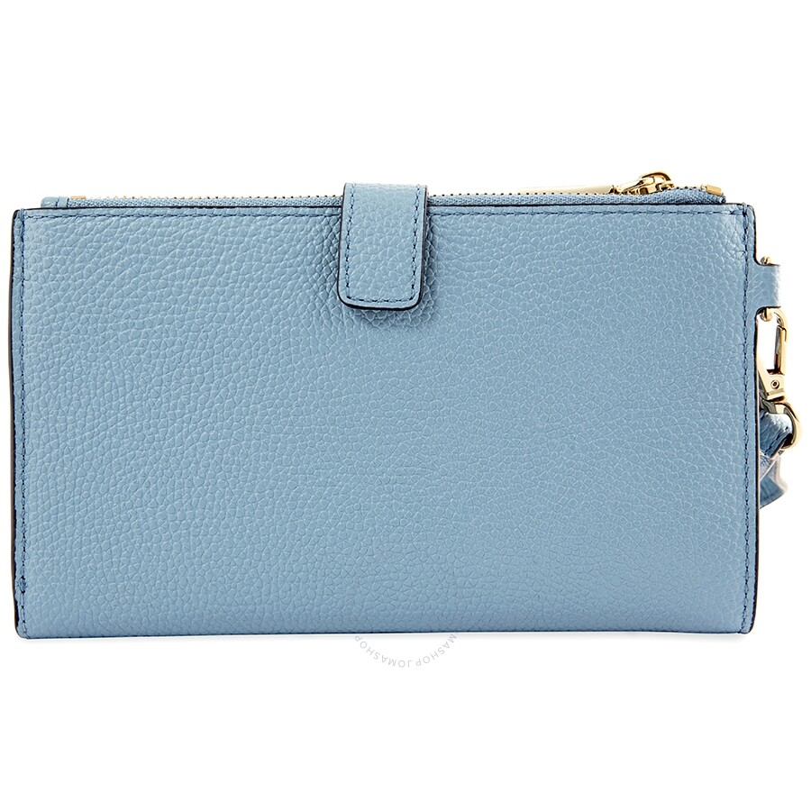 69e905ae5a49 Michael Kors Adele Leather Smartphone Wristlet- Powder Blue Item No.  32T8TFDW4L-424