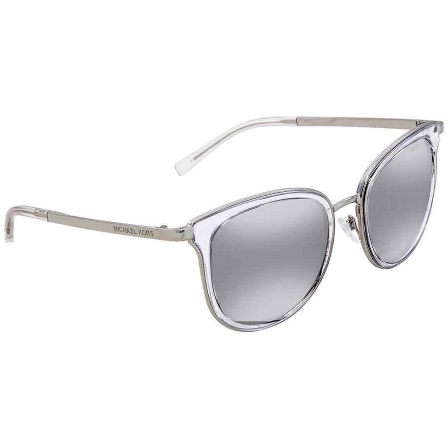 6281722b970 Michael Kors Adriana I Silver Mirror Square Ladies Sunglasses MK1010-11026G-54  ...