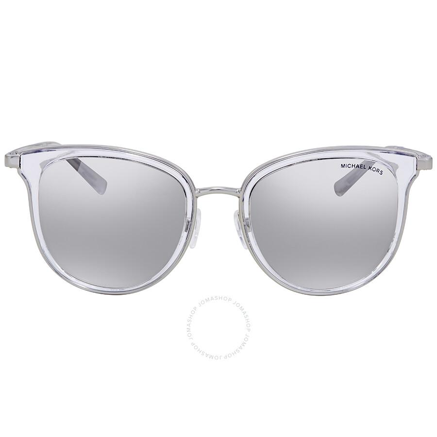 a0f4ea068b5 ... Michael Kors Adriana I Silver Mirror Square Ladies Sunglasses MK1010- 11026G-54 ...