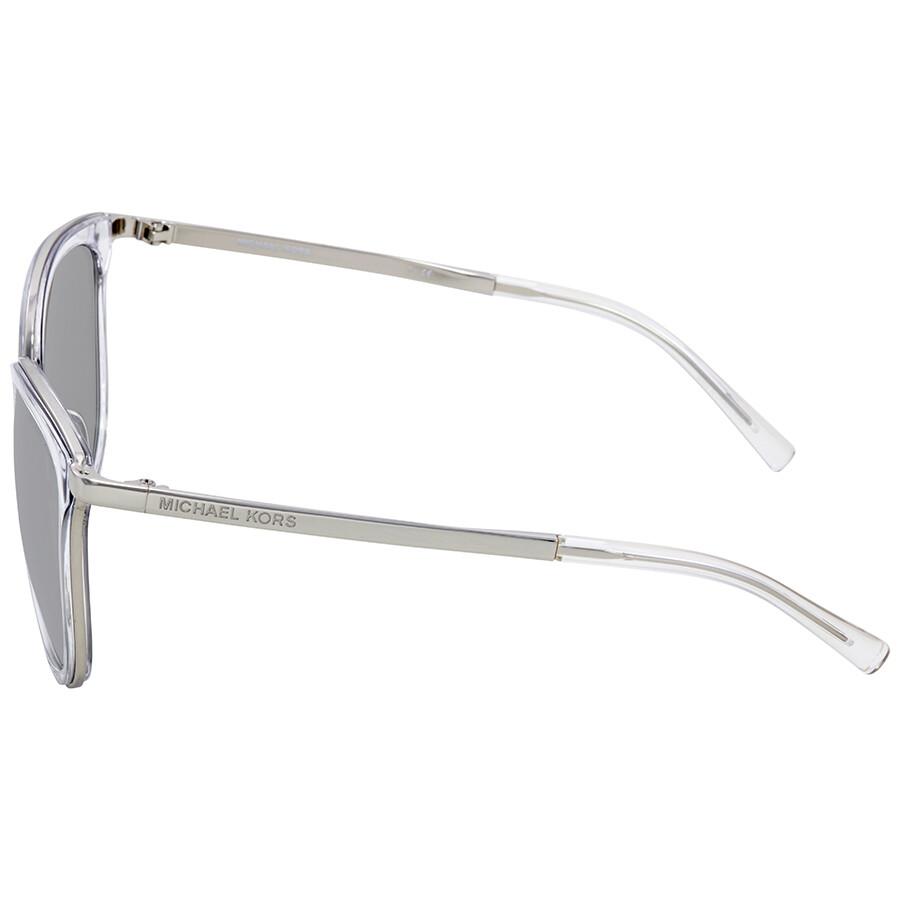 ae5cb3e998c ... Michael Kors Adriana I Silver Mirror Square Ladies Sunglasses MK1010- 11026G-54