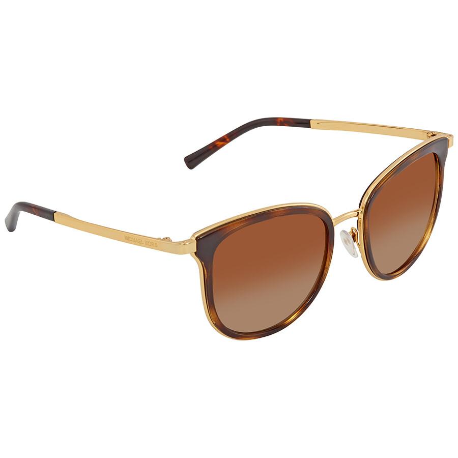 b5e1c4bb6afb Michael Kors Adrianna Brown Gradient Cat Eye Ladies Sunglasses  MK1010-110113-54 ...