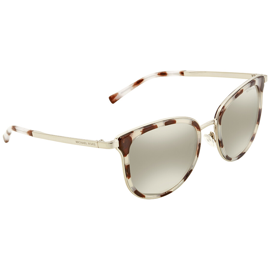 866e1ffdf2 Michael Kors Adrianna I Silver Mirror Square Ladies Sunglasses MK1010-11986G-54  ...