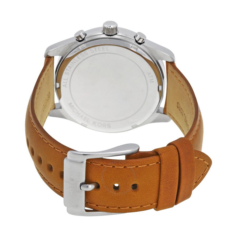 35e5f97874da ... Michael Kors Aiden Black Dial Leather Strap Chronograph Men s Watch  MK8416